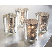 Mud Pie Mercury Glass Silver Votive