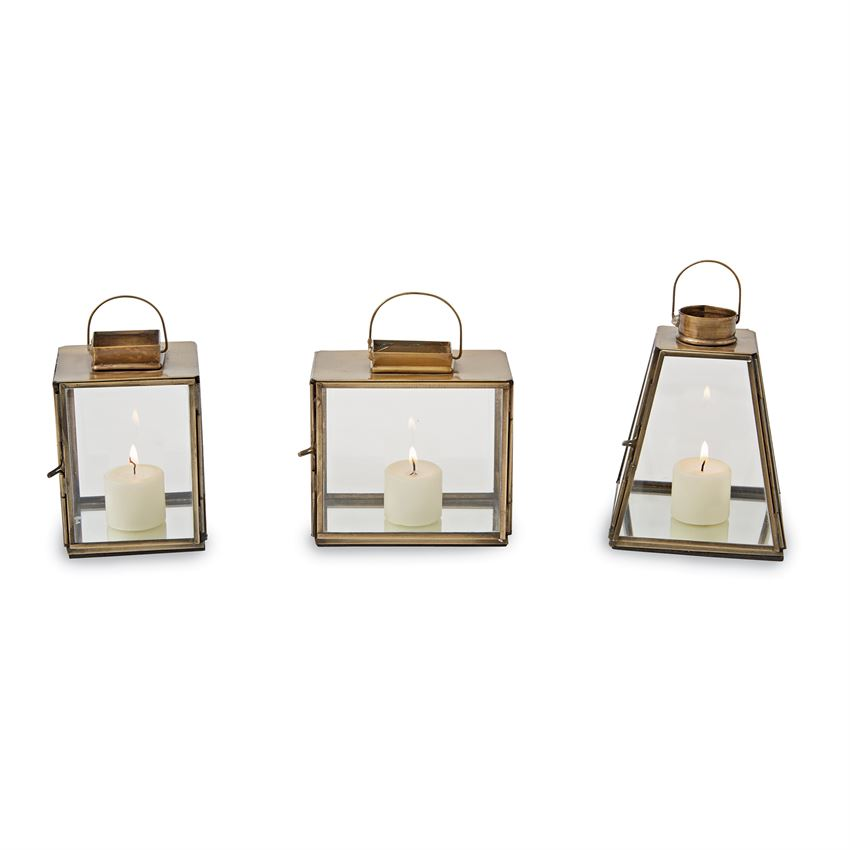Mud Pie Mini Brass Lanterns