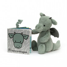 Jellycat If I were a Dragon Book and Bashful Dragon Plush Set