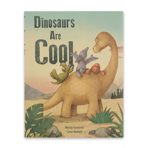 Jellycat Fossilly T-Rex - Dinosaurs Are Cool Book