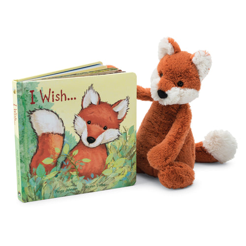 Jellycat Bashful Fox- I Wish Book