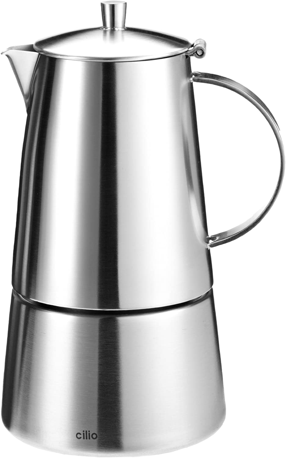 Cilio Modena 202304 Espresso Maker 6 Cups, Stainless Steel