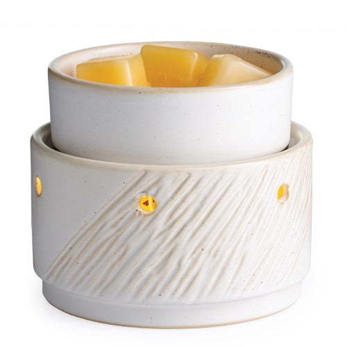 Candle Warmers - Aspen 2-in-1 Deluxe Fragrance Warmer with Automatic Shut-off Timer