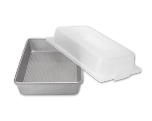 USA PAN® Rectangular Cake Pan and Lid Set