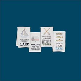 Mud Pie LAKE ICON HAND TOWELS