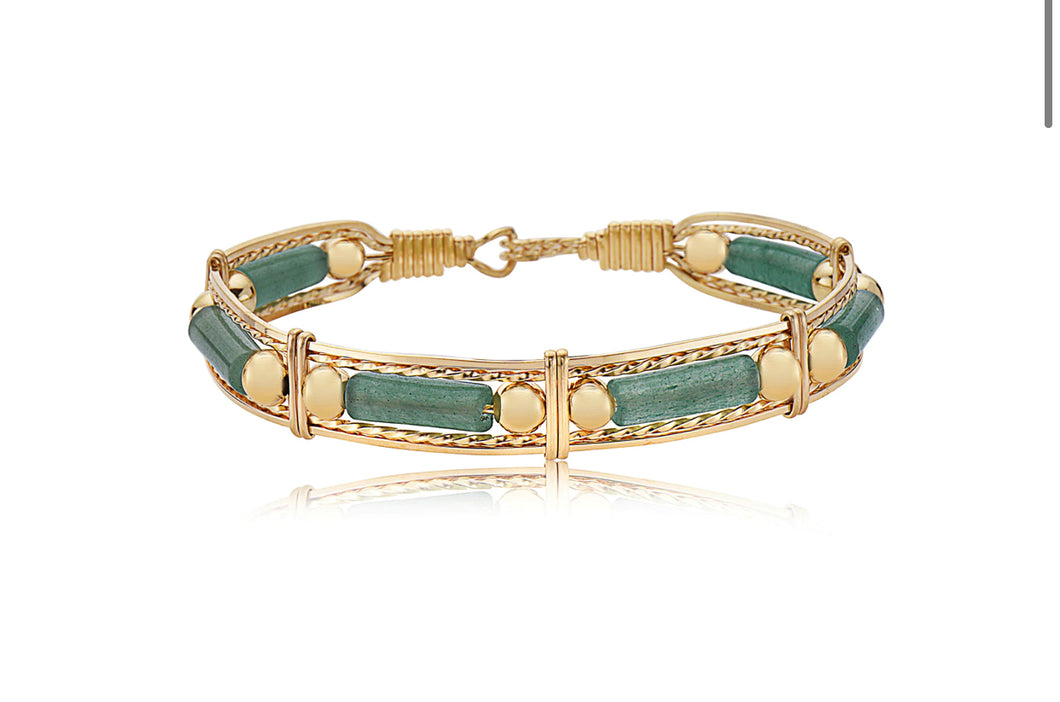 Ronaldo Color Your World™ Jade and Gold Bead Bracelet