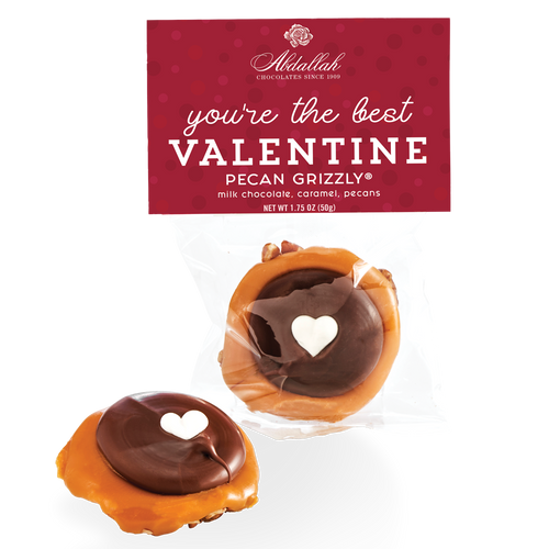 Abdallah Candies Valentine Pecan Grizzly® 1.75oz