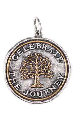 Waxing Poetic Celebrate the Journey Medallion Charm