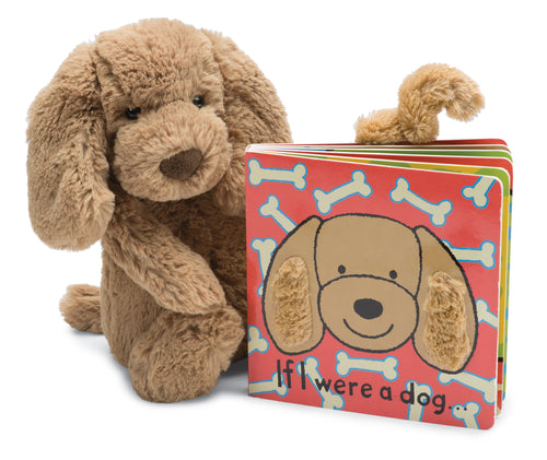 Jellycat If I were a Dog Board Book and Small Plush Set
