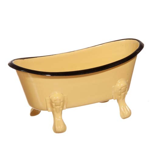 Creative Co-op ENAMEL BATHTUB SOAP DISH