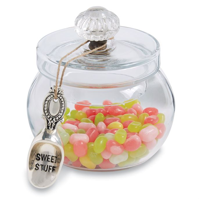 Mud Pie DOOR KNOB GLASS SWEETS JAR