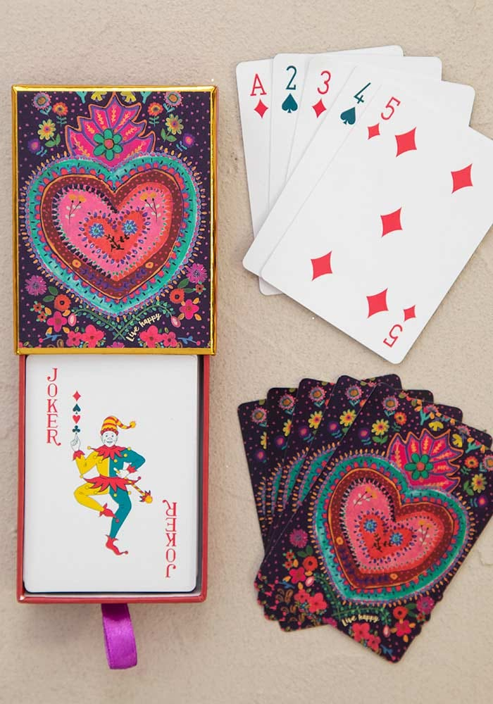 Natural Life Happy Heart Playing Cards