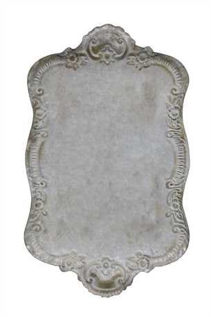 Creative Co-Op Decorative Tin Tray with Distressed Grey Finish