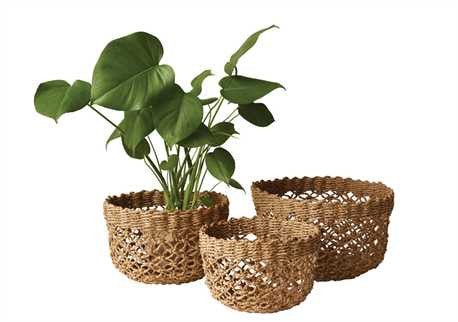 Creative Co-Op Round Bankuan Rope Baskets