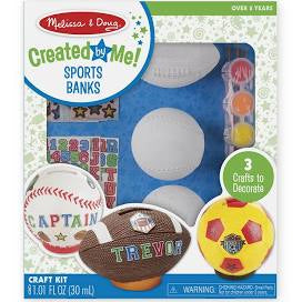 Melissa & Doug® Created by Me! Sports Banks Craft Kit