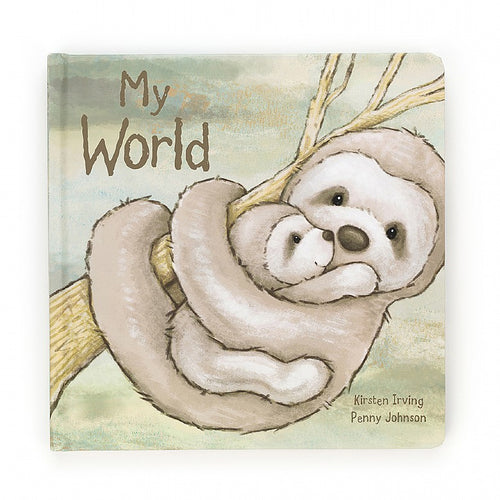 Jellycat Bailey Sloth - My World Book