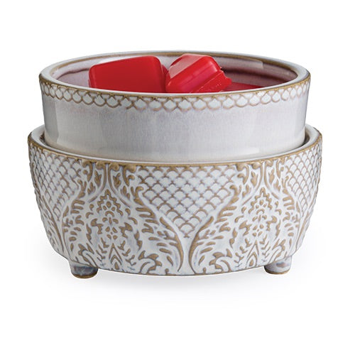 Candle Warmers - Vintage White 2-in-1 Classic Fragrance Warmer