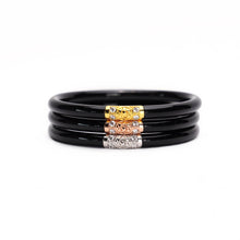 BuDhaGirl Black All Weather Bracelet, Set of 3