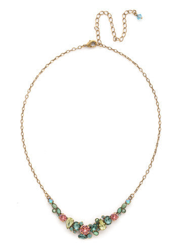 Sorrelli Gem Pop Asymmetric Cluster Necklace