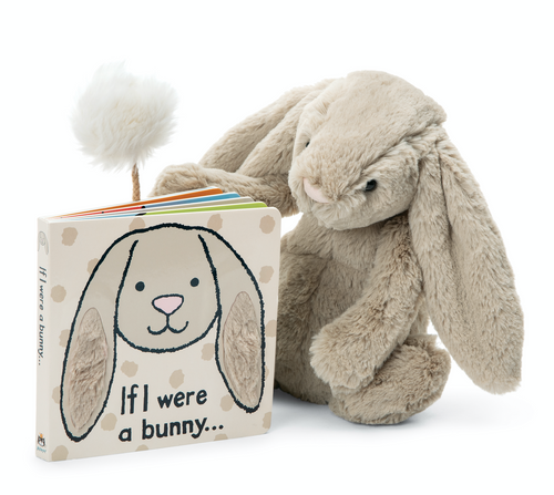 Jellycat If I were a Bunny Board Book and Small Plush Set