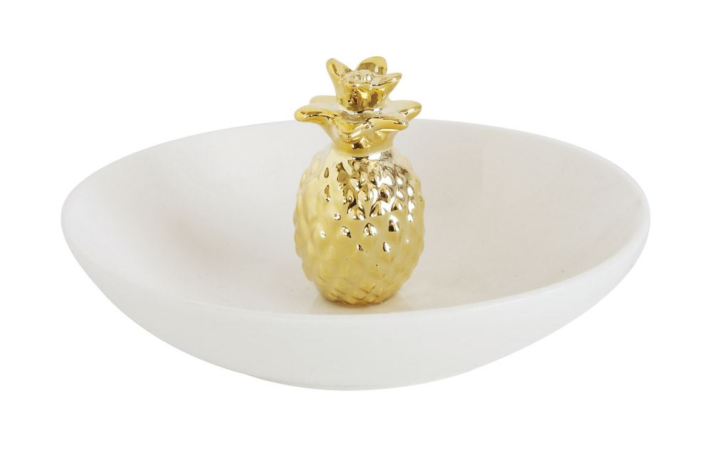 Creative Co-Op Pineapple Jewelry Dish