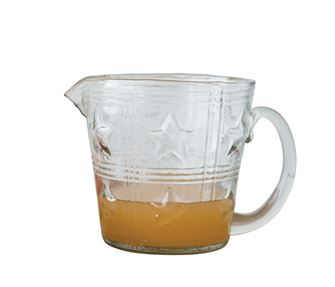 Creative Co-op Glass Pitcher w/ Embossed Stars