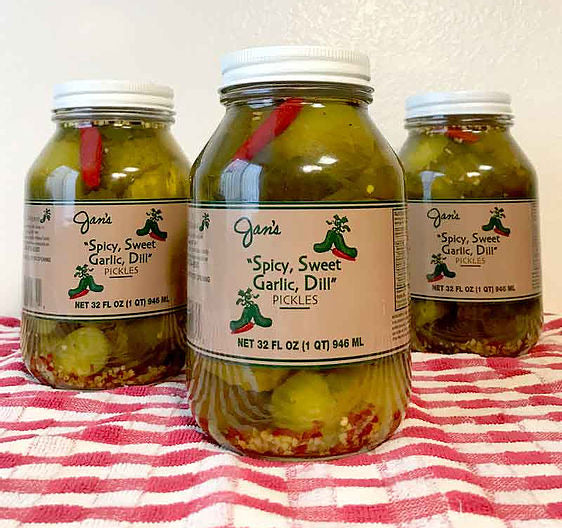 Jan's Pickles - Spicy, Sweet, Garlic, Dill
