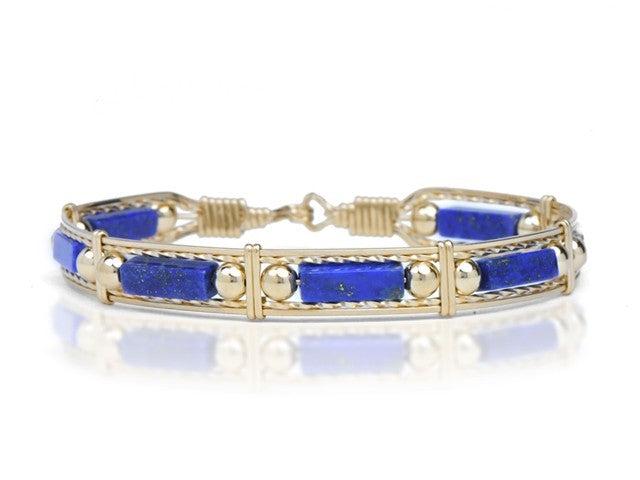 Ronaldo Color Your World™ Lapis and Gold Bead Bracelet