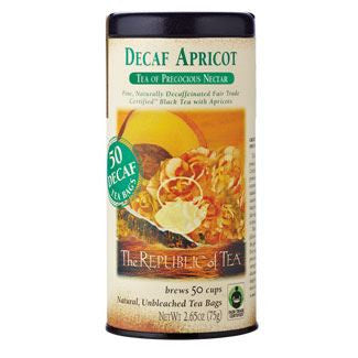 The Republic of Tea Decaf Apricot Black Tea Bags