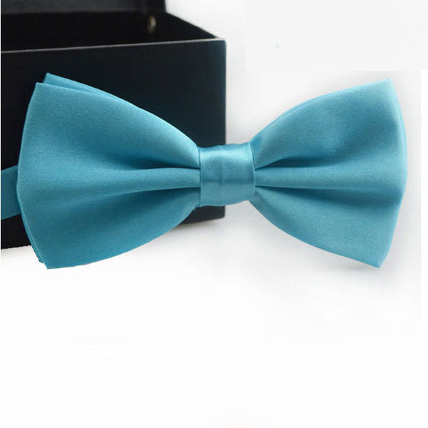 Trustworth 16Color Bow Tie For Men 2016 Classic Gravata Solid Novelty Mens Adjustable Tuxedo Brand Wedding Necktie Ties #LSW