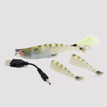 Rechargeable Twitching Lure Shrimp Green Camo Tiger
