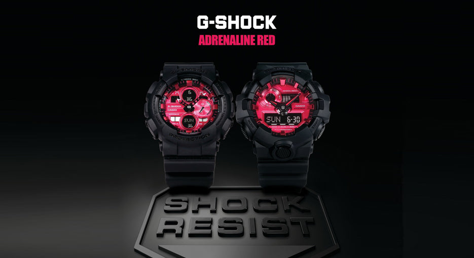 Casio G-Shock Introduces The Impressive ADRENALIN RED Series Of Mens Watches