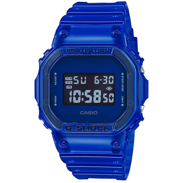 Casio G-Shock 90'S COLOR SKELETON Series Blue Digital Mens Watch DW5600SB-2