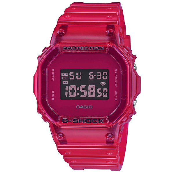 Casio G-Shock 90'S COLOR SKELETON Series Red Digital Mens Watch DW5600SB-4