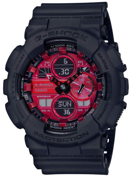 Casio G-Shock ADRENALIN RED Series Mens Black/Red Analog-Digital Watch GA140AR-1A