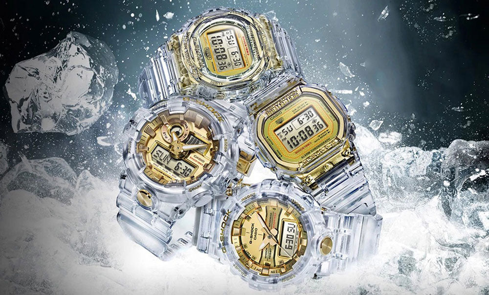 Casio G-Shock GLACIER GOLD 35th Anniversary Series Watches