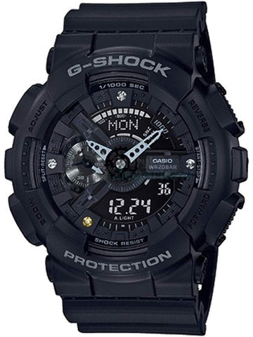 Casio G-Shock DIAMOND INDEX All Black Mens Watch GA135DD-1A - Shop at Altivo.com