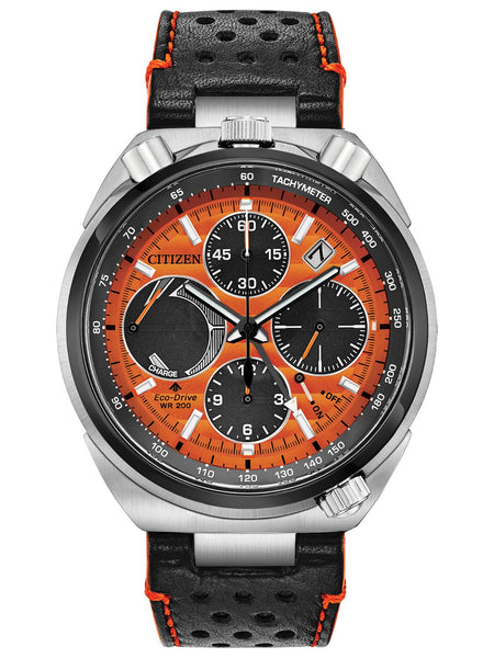 Citizen PROMASTER TUSNO CHRONO RACER Leather Mens Watch AV0078-04X - Shop at Altivo.com