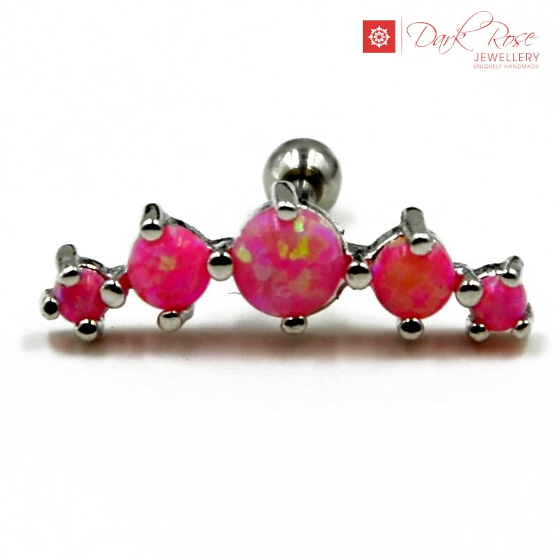 DRJ Opal Cartilage Piercing - Dark Rose Jewellery