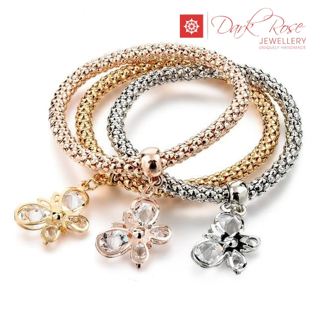 Dark Rose Lucky Charm Bracelets - Dark Rose Jewellery