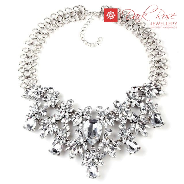 Maxi Boho Crystal Necklace - Dark Rose Jewellery