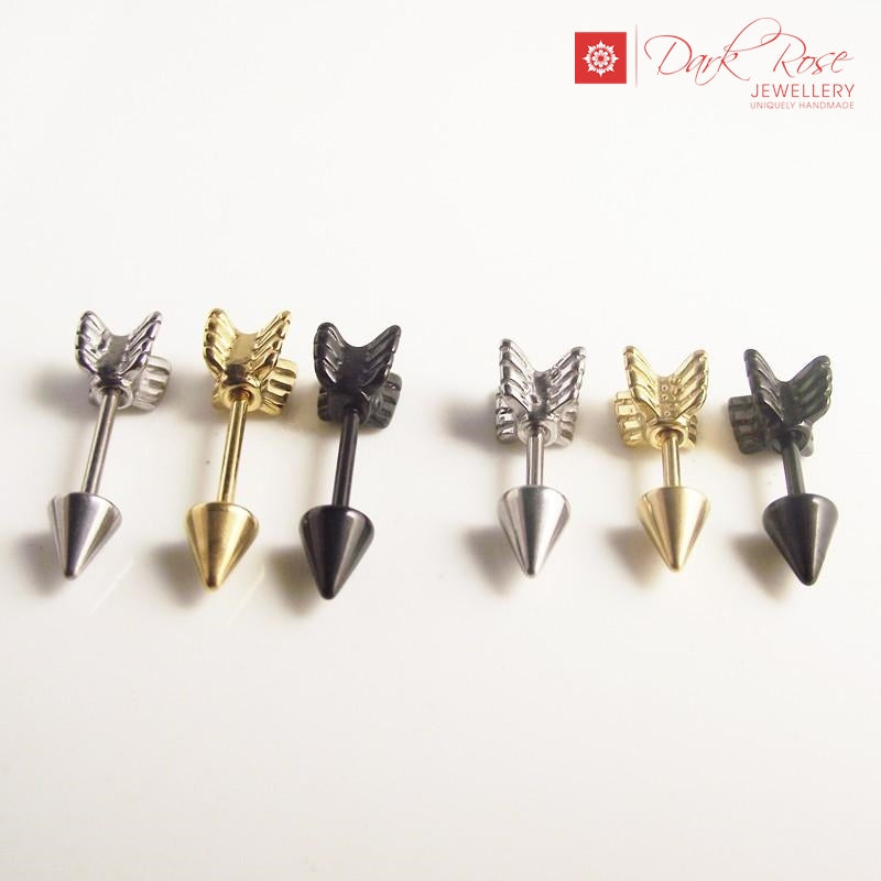 Dark Rose Arrow Shape Plug - Dark Rose Jewellery