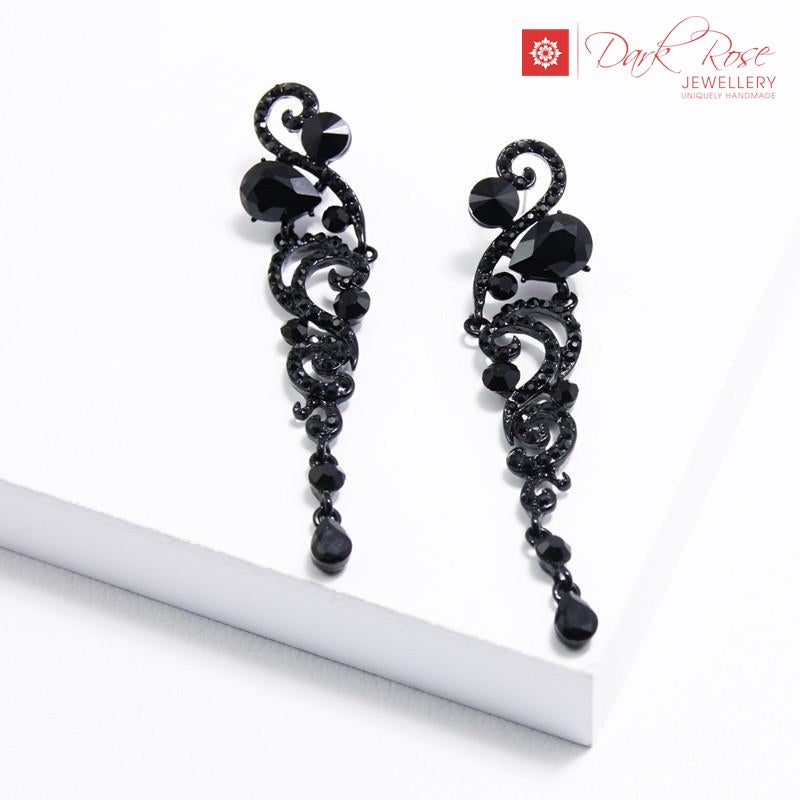 Dark Rose Winged Earrings - Dark Rose Jewellery