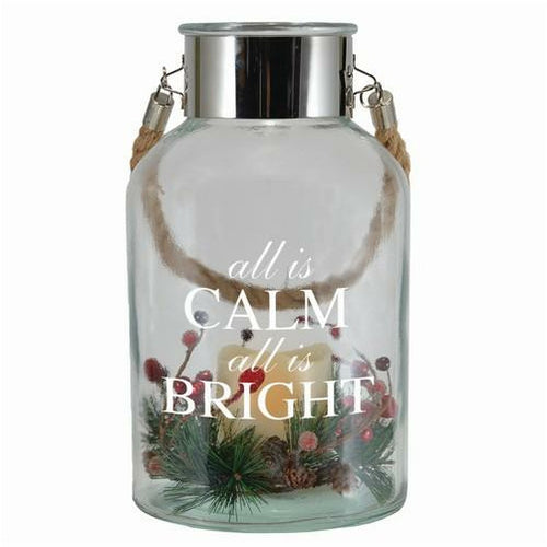 All is Calm, All is Bright Expression Canister, LED - Howell's Mercantile
