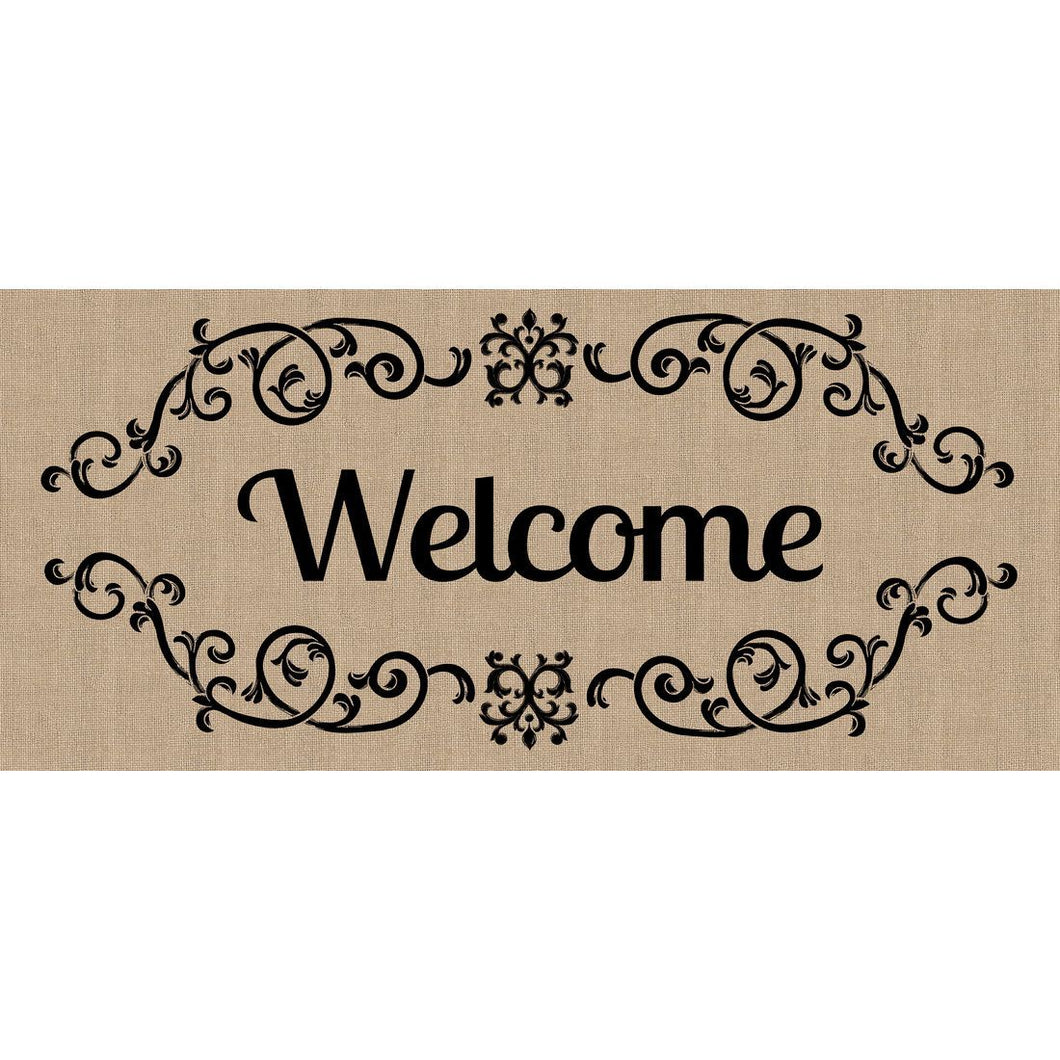 Decorative Welcome Scroll Sassafras Switch Mat - Howell's Mercantile