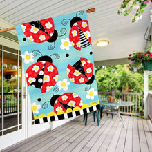 "Folk Ladybugs Flag - 28""x 40"" - Howell's Mercantile"