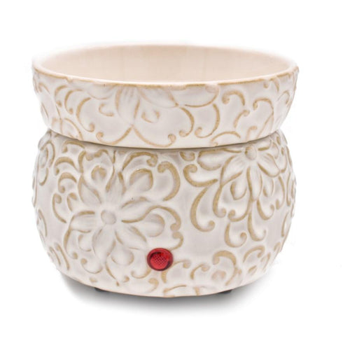 IVORY SCROLL ELECTRIC MELTER SET - Howell's Mercantile