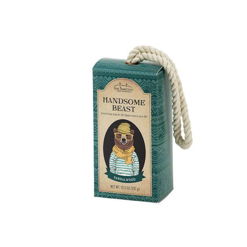 Men's Soap On A Rope - Handsome Beast Hipster - Howell's Mercantile
