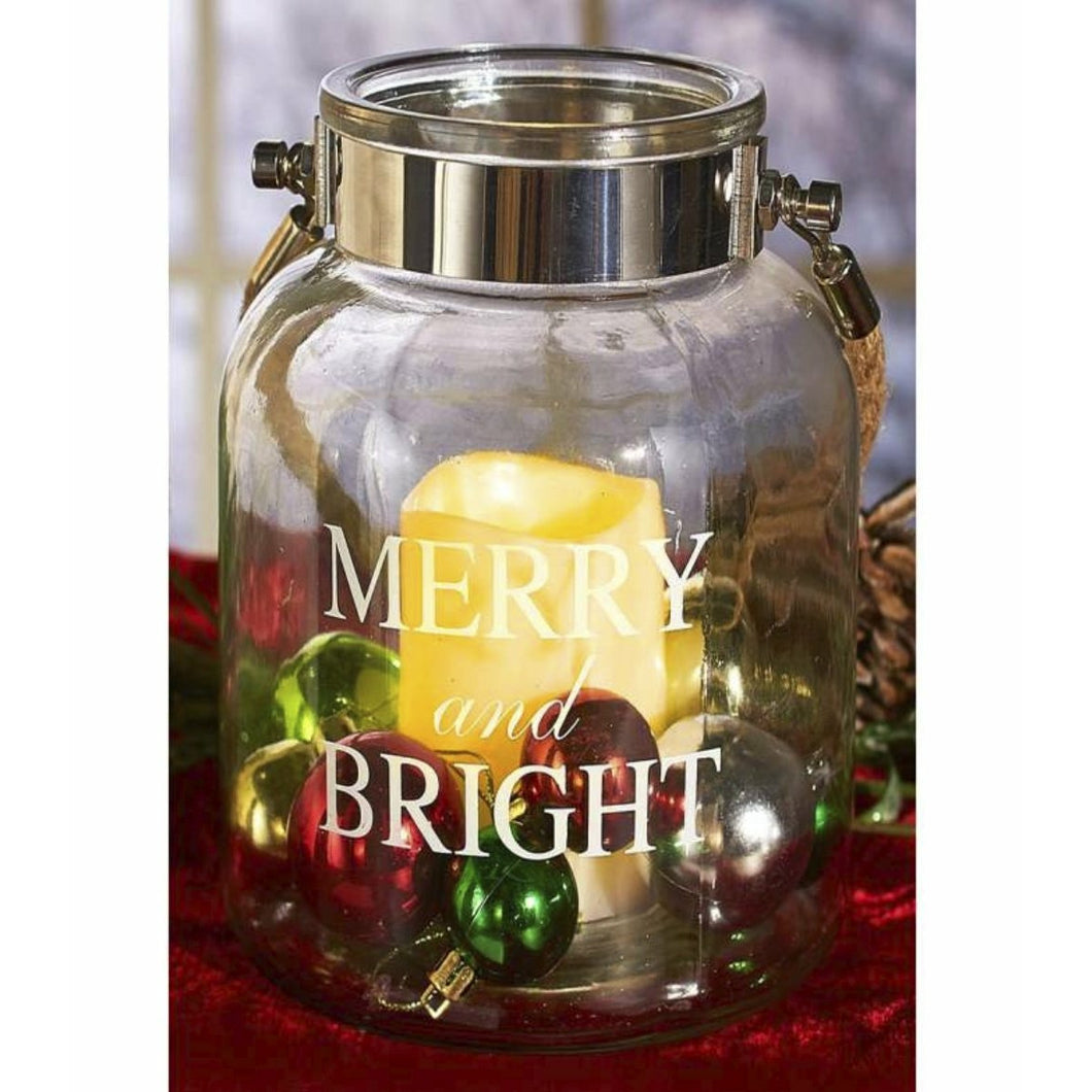 Merry & Bright LED Holiday Canister - Howell's Mercantile