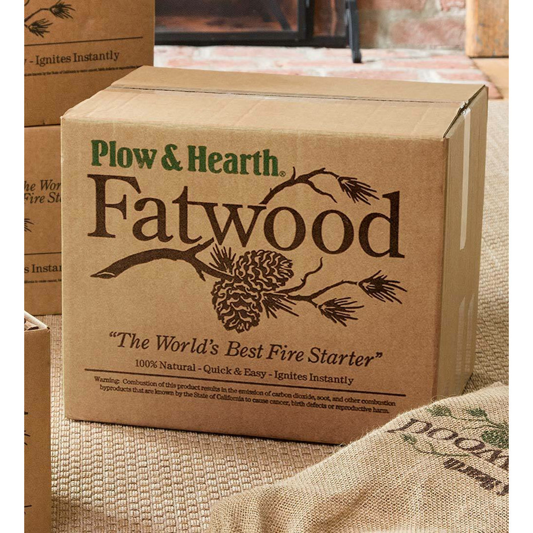 Plow & Hearth - 10 lb. Box Of Fatwood Kindling Fire Starter Sticks - Howell's Mercantile